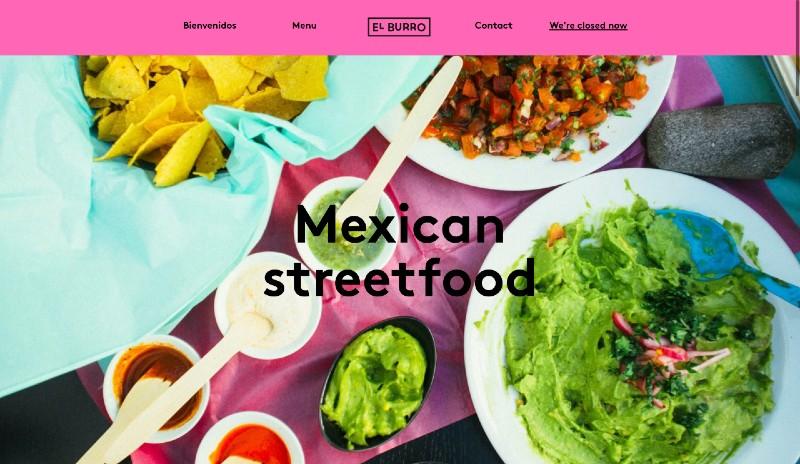 Create a restaurant website