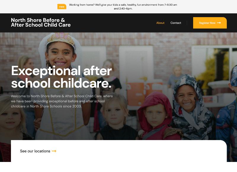 A childcare center website